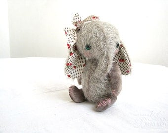 PATTERN Download to create Teddy like Pastel Elefant 16 cm 6 inch