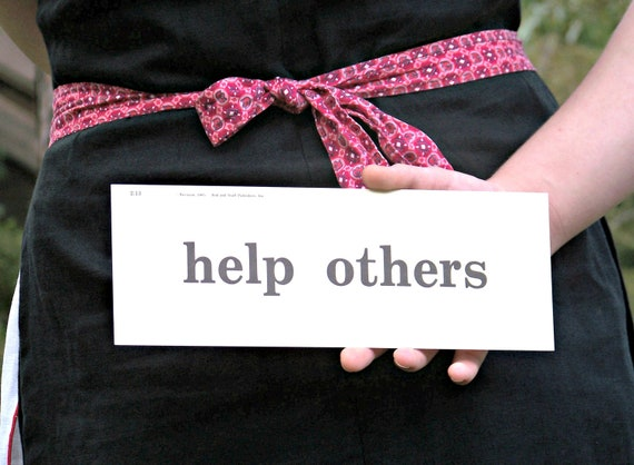 Vintage HELP OTHERS Phrase Card
