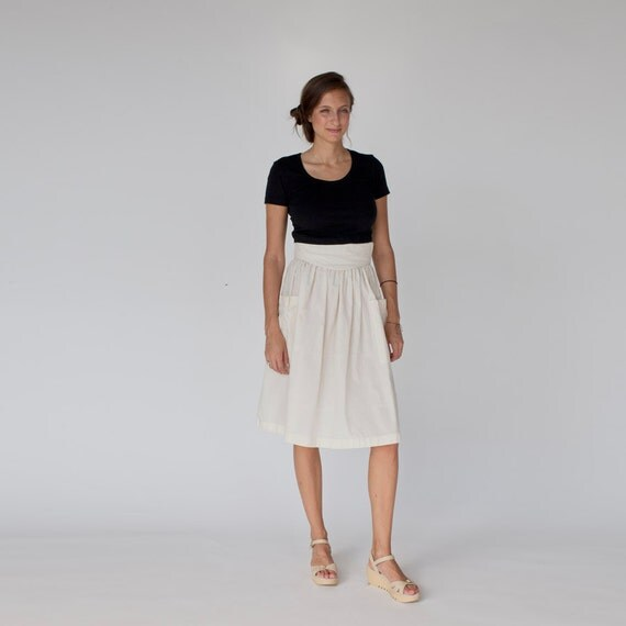 high wasited canvas pocket skirt small