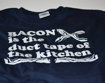 Bacon T-shirt for Men Bacon Gift for Husband or Boyfriend Bacon Lover Shirt Funny Duct Tape Shirts Mens Bacon Shirts