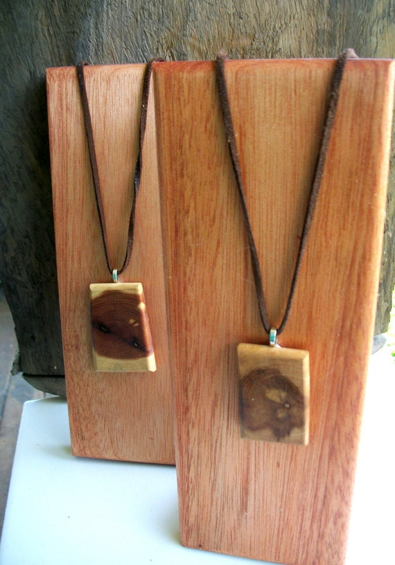 Items similar to 2 small wooden jewelry display stands for for How to make a wooden pendant