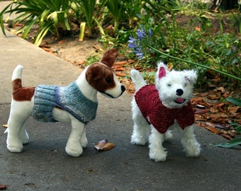 Small dog sweater pattern - easy-on, 2 variations