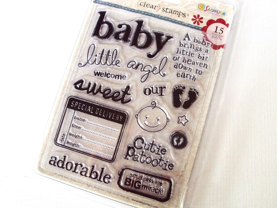 BABY 15 piece Clear Stamp Set Kelly Panacci Designs collection SandyLion