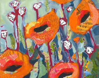 Orange Poppies Original Painting