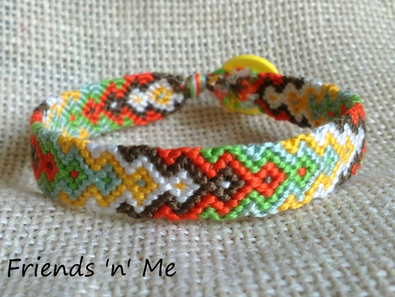items similar to friendship bracelet orange yellow