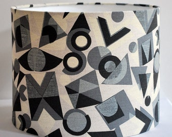 Handmade drum lampshade in Colourdrome by Peter & Linda Green