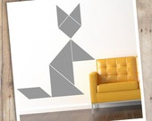 Tangram animal wall decals...display them how you want