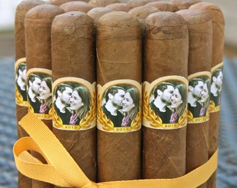 16 Wedding Cigar Bands - Custom Printed Labels - Photo Marquee
