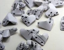 Music Notes Origami Hearts