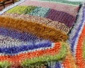 SALE 40% Off - Crocheted Mash-Up Fuzzy Afghan - Wrap Yourself in a Rainbow CHK