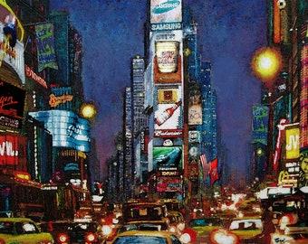 Broadway New York City Framed Art Print On Canvas