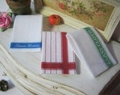 Country Tea Towel Set for Dollhouse, 1:12 scale