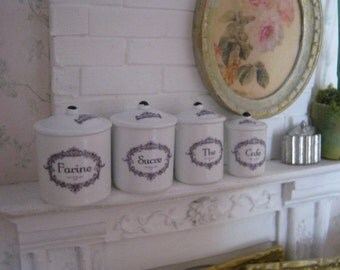 Lavendulan Kitchen Canisters for Dollhouse
