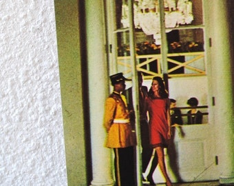 Vintage New Orleans Postcard, Hotel Royal Advertising, Woman Exiting Front Entrance Unused Post Card