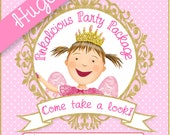 HUGE PINKALICIOUS Party Package - Digital files only - PERSONALIZED Print yourself