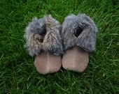Handcrafted Nampeh Tutua'a Tommo ( Winter Baby Toddler Moccasins ) fits a 5 inch foot - 1870 - 1900 Shoshoni style