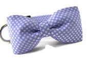 Purple Polka Dot Dog  Bowtie Collar Set - MAISY is Available in All Sizes - Light Purple Polka Dots are perfect for Boys and Girls