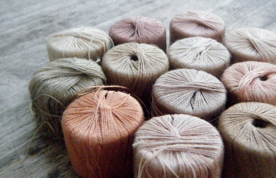 Reserved for Evie Do Not Buy Fall Colors Collection of Threads Tatting Crochet Crafts