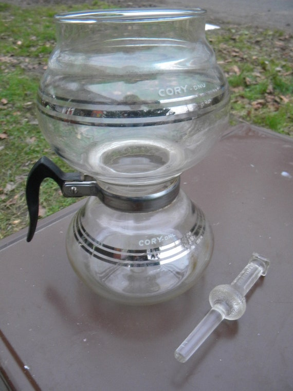 Clean Vintage 40s 50s Cory Vacuum Coffee Pot Siphon By