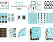 Safari Baby Shower Printable Collection