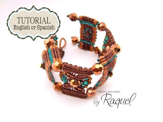 """Micro Macrame Bracelet Tutorial en ESPAÑOL  """"Pulsera Brown Steps"""""""