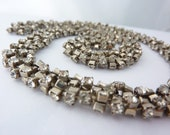 VIntage Twisted Rhinestone Necklace, Unique and Stunning