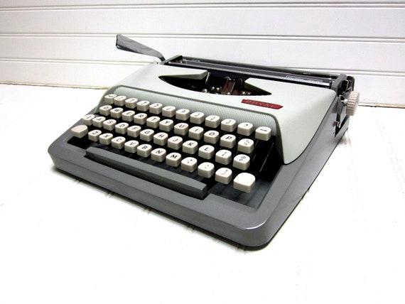 Vintage Typewriter Gray Royal Signet Manual Portable Typewriter