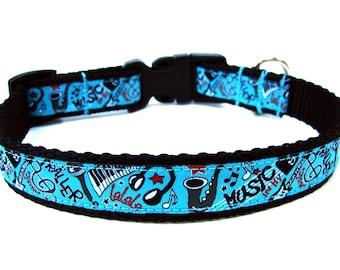 """Music Dog Collar 3/4"""" Unique Dog Collar"""