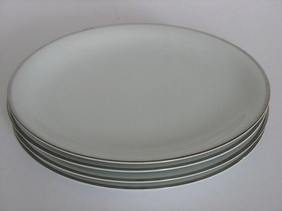 Vintage Noritake Silverdale Pattern, 4 Plates