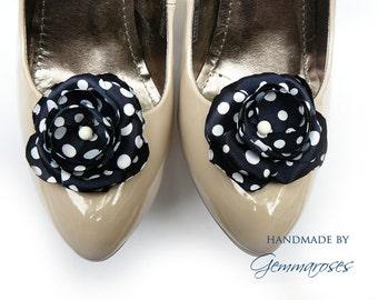 BlackBlue (Polka) Dot Shoe Clips