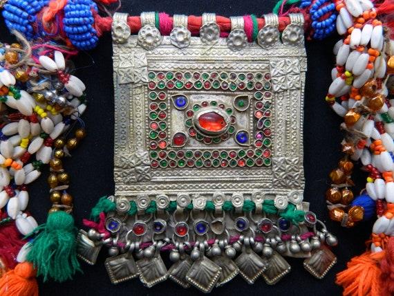 Vintage Kuchi Camel Pendant Set Dance Necklace Tribal Belt Belly Dance