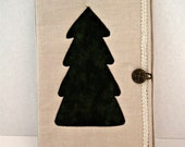Evergreen Tree Quilted Notebook Holder