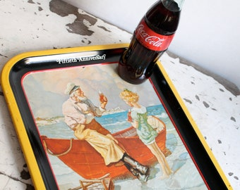 1980s Coca Cola Anniversary Serving Tray
