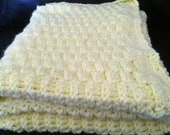 Basket-weave Crocheted Baby Blanket