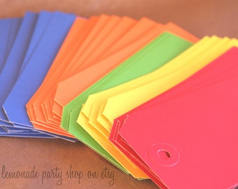 CoLoReD TaGs--extra large-for Gifts,party favors, scrapbooking--20ct of mixed colors