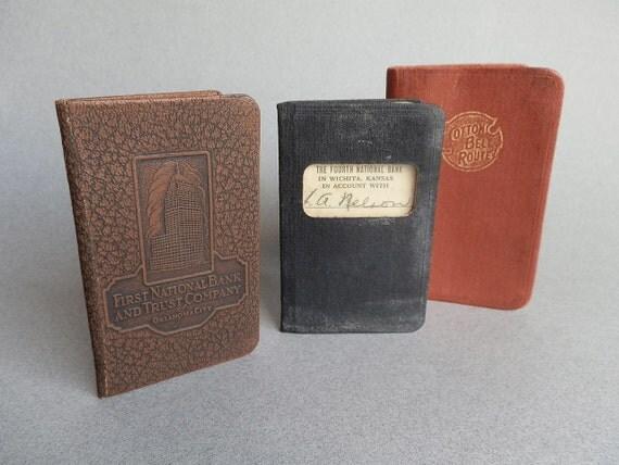 Vintage Railroad Pocket Diary Cotton Belt Route Map Bank Books Wichita Kansas Oklahoma City