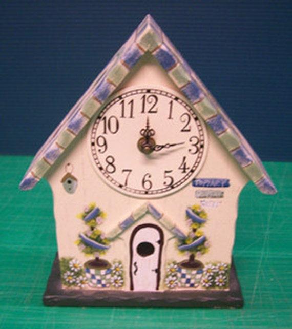 Shabby Chic Bird House Clock