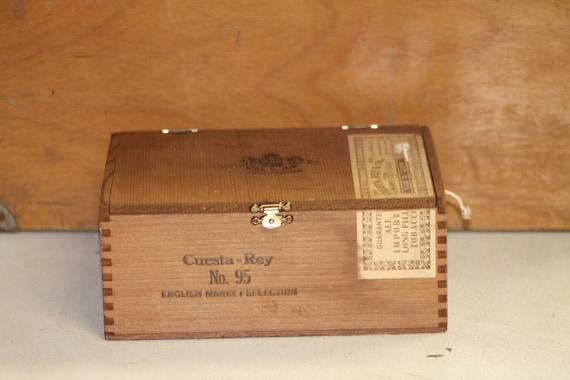 Vintage cuesta rey no 95 cigar box with by toolshedantiques