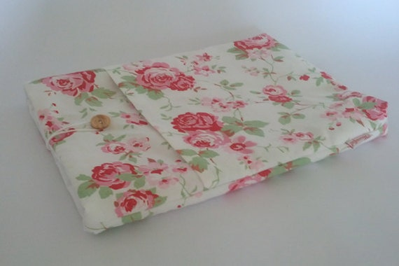 "13"" Macbook Laptop Case - White Floral"