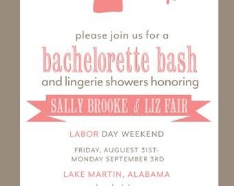 Bachelorette Party Invitation- Printable File