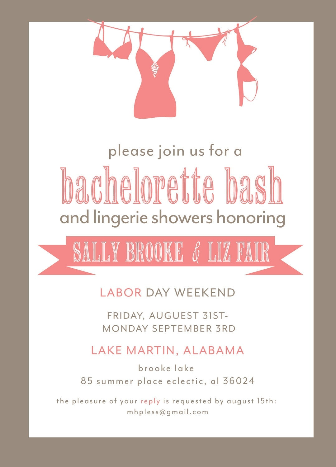 bachelorette party invitation printable file. Black Bedroom Furniture Sets. Home Design Ideas