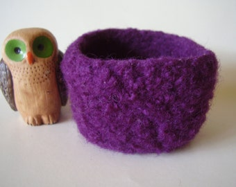 wee felted bowl ring holder violet container