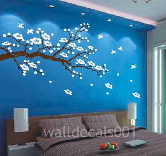 cherry blossom Wall decal nature wall room decor  graphic mural  wall decor wall art - Cherry Blossom