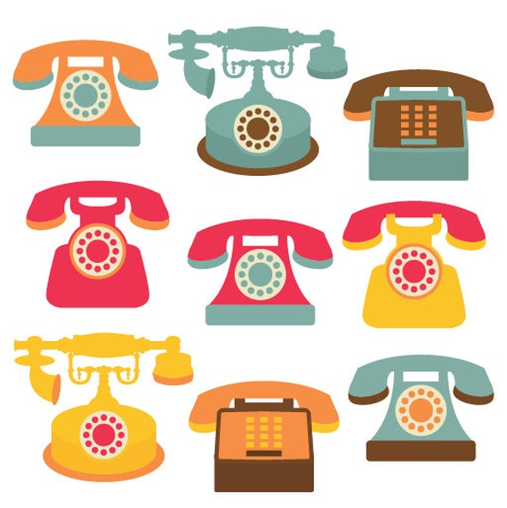 Telephone Clip Art Clipart Set Personal and by ...