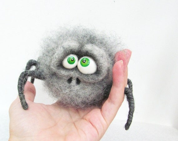 Felt toys - Felt doll - Felted animals - Collectible dolls - Unique toys - Soft sculpture - Needle felting - hand made toys - Gift for her