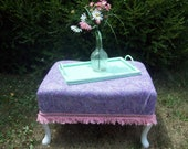 White, pink and purple ottoman seat, girly and sweet
