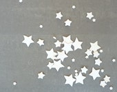 Porcelain stars - table decoration // MADE TO ORDER // For Christmas, a Wedding or Dinner party // Set of 45 // Free shipping worldwide