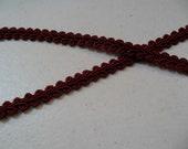 10 yards fancy burgundy curlicue trim gimp chinese braid