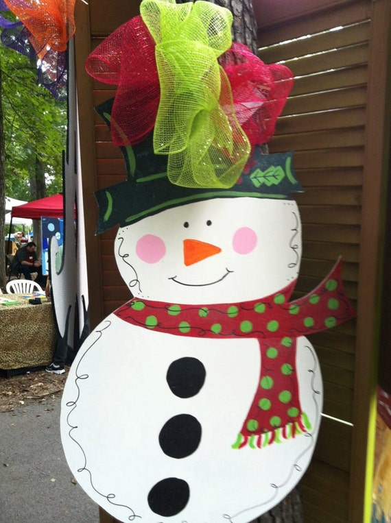 Traditional Snowman Door Hanger Christmas Holiday