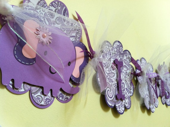Its a Girl Baby Banner Baby Shower Decoration Elephant and Paisley Custom Order for Brittany